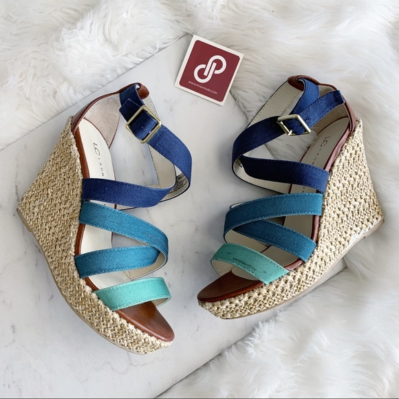 b563ef65fe5d LC Lauren Conrad Shoes - Lauren Conrad • Strappy Wedges